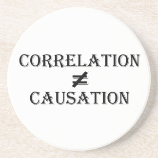 Correlation Not Causation Drink Coaster