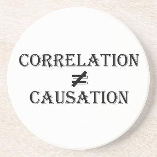 Correlation Not Causation Drink Coaster