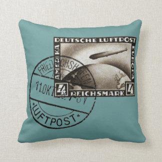 Correo aéreo 1928 del zepelín almohada