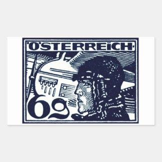 Correo aéreo de 1925 austriacos pegatina rectangular