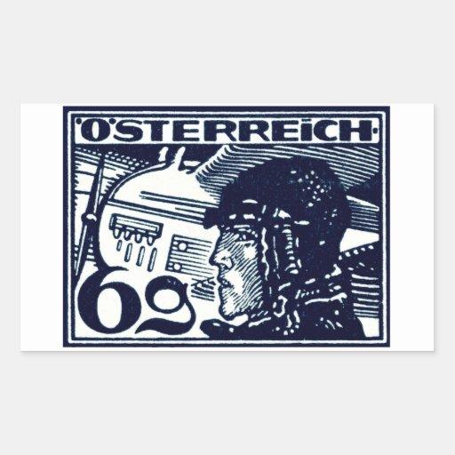 Correo aéreo de 1925 austriacos etiqueta