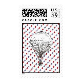 Correo aéreo del globo del vintage sello