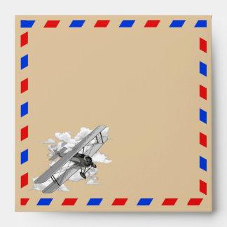 Correo aéreo del vintage sobre