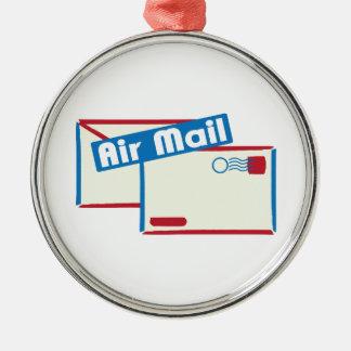 Correo de Letter_Air Adorno Redondo Plateado
