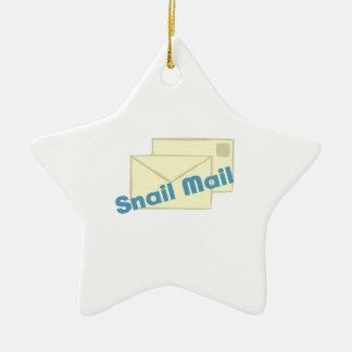 Correo de Letter_Snail Adorno De Cerámica En Forma De Estrella