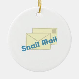 Correo de Letter_Snail Adorno Redondo De Cerámica