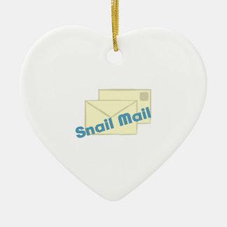Correo de Letter_Snail Adorno De Cerámica En Forma De Corazón