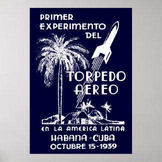 Correo de Rocket de 1939 cubanos Impresiones