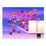 Correo del corazón de la tarjeta del día de San Va Tarjeta Postal