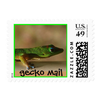 correo del gecko contra snail mail franqueo