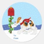 Correo del navidad del Fox del alambre Pegatina