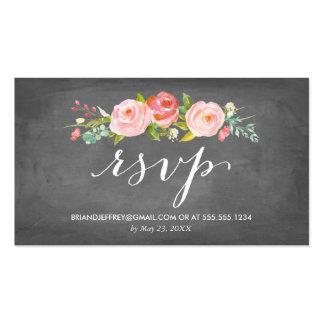 Correo electrónico floral RSVP del boda de la Tarjetas De Visita