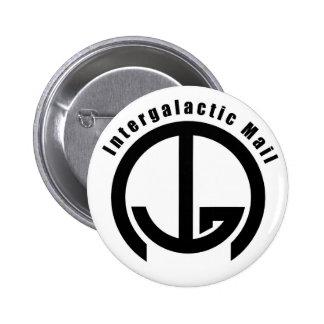 Correo intergaláctico (IGM) - con palabras Pin Redondo 5 Cm