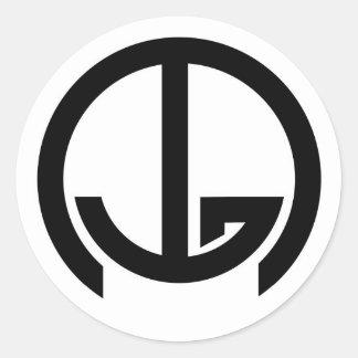 Correo intergaláctico (IGM) - ningunas palabras Pegatina Redonda