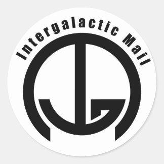 Correo intergaláctico (IGM) - palabras Pegatina Redonda