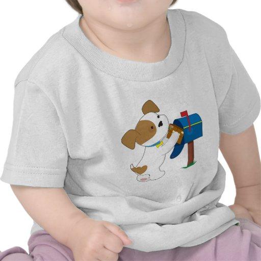 Correo lindo del perrito camisetas