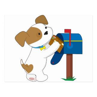 Correo lindo del perrito tarjeta postal