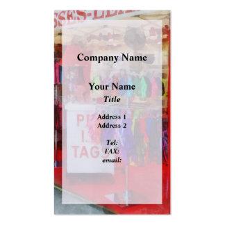 Correos y arneses del mascota para la venta tarjetas de visita