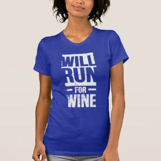 correrá para el vino camisetas