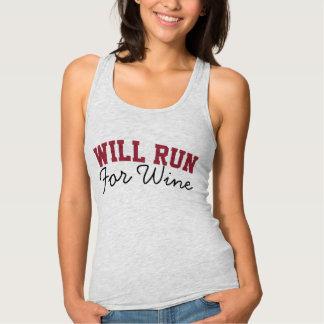Correrá para el vino, corredores corrientes playera