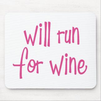 Correrá para el vino alfombrilla de ratones