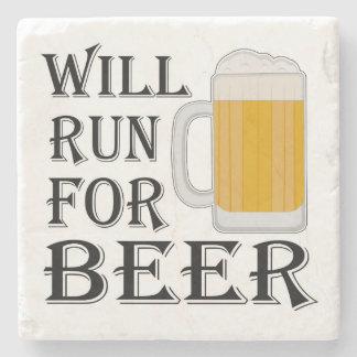 Correrá para la cerveza posavasos de piedra
