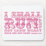 Correré y no creceré tipografía cansada alfombrillas de ratón
