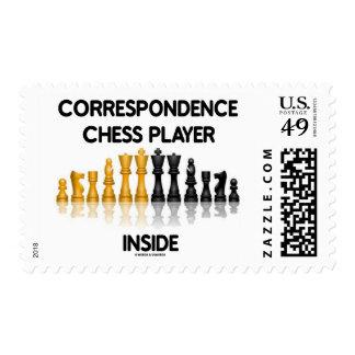 Correspondence Chess Player Inside (Chess Set) Stamp