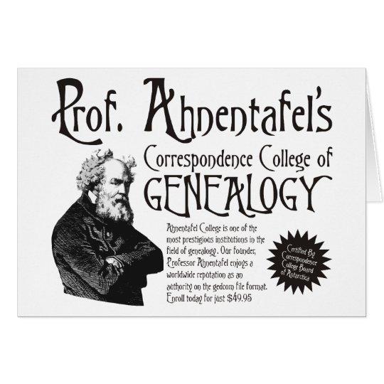 Correspondence College Of Genealogy Card