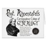 Correspondence College Of Genealogy Greeting Card