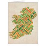 Correspondencia de texto de la ciudad de Irlanda Felicitación