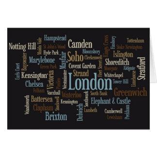 Correspondencia de texto de Londres Felicitacion