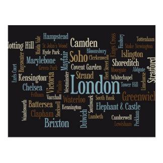Correspondencia de texto de Londres Tarjetas Postales