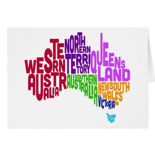 Correspondencia de texto tipográfica de Australia Tarjeta De Felicitación