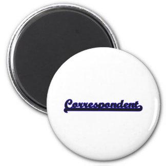 Correspondent Classic Job Design 2 Inch Round Magnet