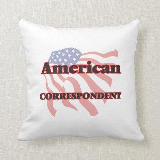 Correspondiente americano cojín