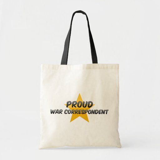Correspondiente de guerra orgulloso bolsas de mano