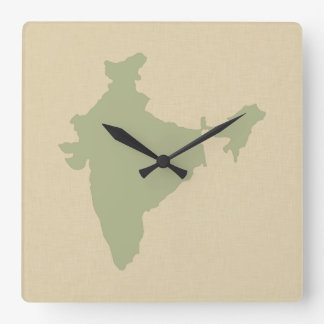 Corriander Spice Moods India Square Wall Clock