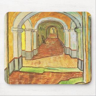 Corridor in Saint-Paul Hospital - Vincent van Gogh Mouse Pad