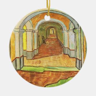 Corridor in Saint-Paul Hospital - Vincent van Gogh Christmas Tree Ornaments