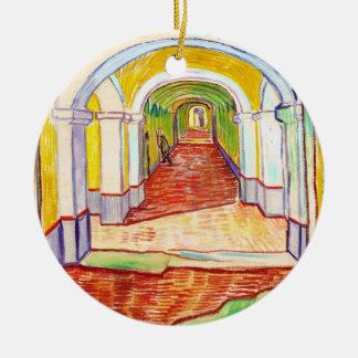 Corridor in Saint-Paul Hospital Vincent van Gogh Christmas Ornament