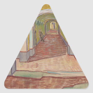 Corridor in Saint-Paul Hospital Vincent van Gogh Triangle Sticker