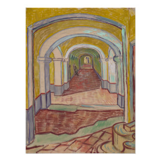 Corridor in the Asylum by Vincent Van Gogh Poster