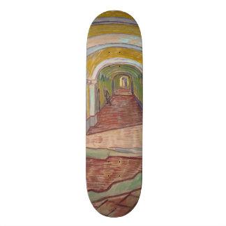 Corridor in the Asylum by Vincent Van Gogh Skateboard Deck