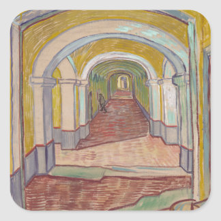 Corridor in the Asylum by Vincent Van Gogh Square Sticker