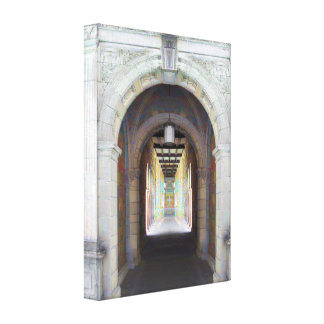 Corridor of Pillars Gallery Wrapped Canvas