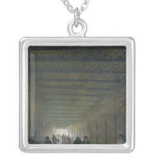 Corridor of the Saint-Lazare Prison in 1793 Silver Plated Necklace