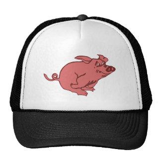 corriendo cerdo running pig gorro