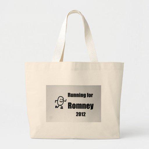 Corriendo para Romney, 2012 Bolsa Tela Grande