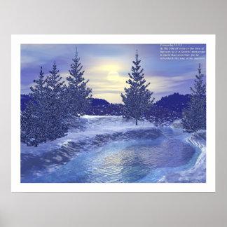 Corriente #2 del invierno con proverbios póster